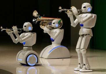 Роботы поют